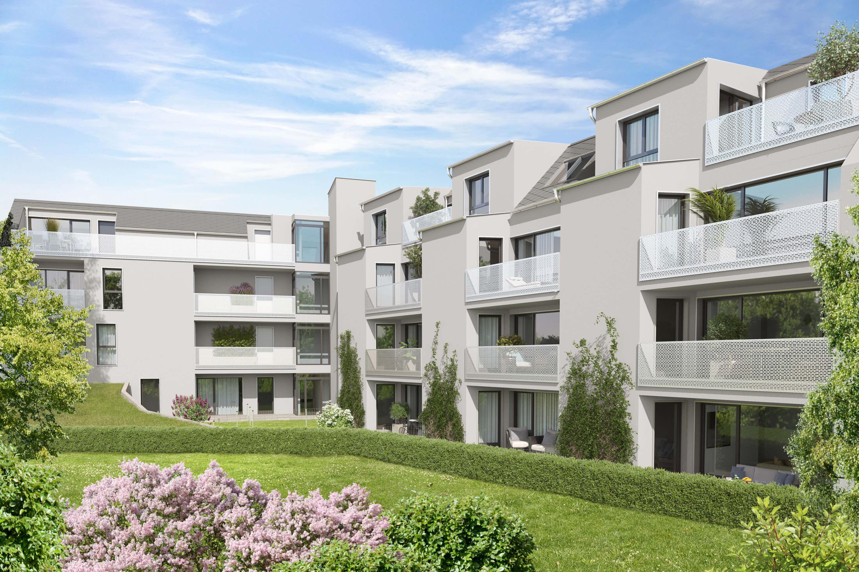 Neubauherrenmodell - 1220 Wien, Aspernstraße 120 - Gartenansicht